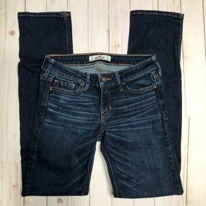 Hollister dark wash straight leg jeans size 1R